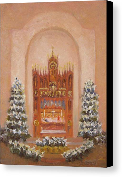 Church Canvas Print featuring the painting Easter At St. Martins by Bunny Oliver