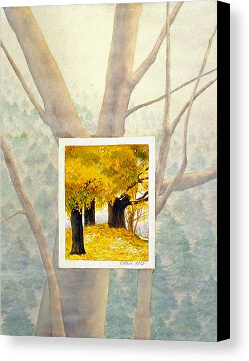 Autumn Canvas Print featuring the painting Eastern Autumn by Nancy Ethiel