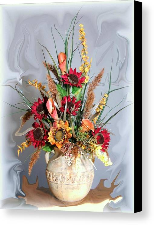 Floral Canvas Print featuring the photograph Floral Arrangement by Jim Darnall