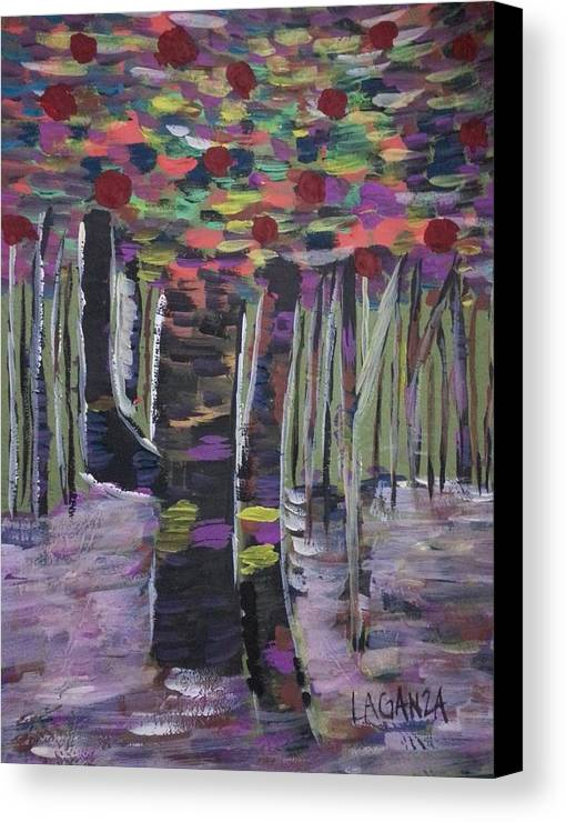 Forest Canvas Print featuring the painting Forest by Marialyn Laganza