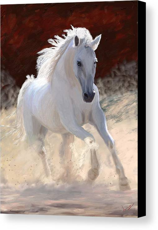 Horse Canvas Print featuring the painting Free Spirit by James Shepherd