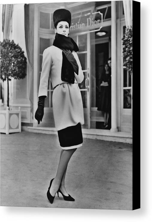 History Canvas Print featuring the photograph French Designer, Christian Dior by Everett