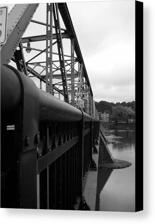 Bridges Canvas Print featuring the photograph Frenchtown Bridge by Amanda Vouglas