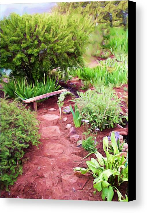 Garden Canvas Print featuring the painting Garden Path by Shelley Bain