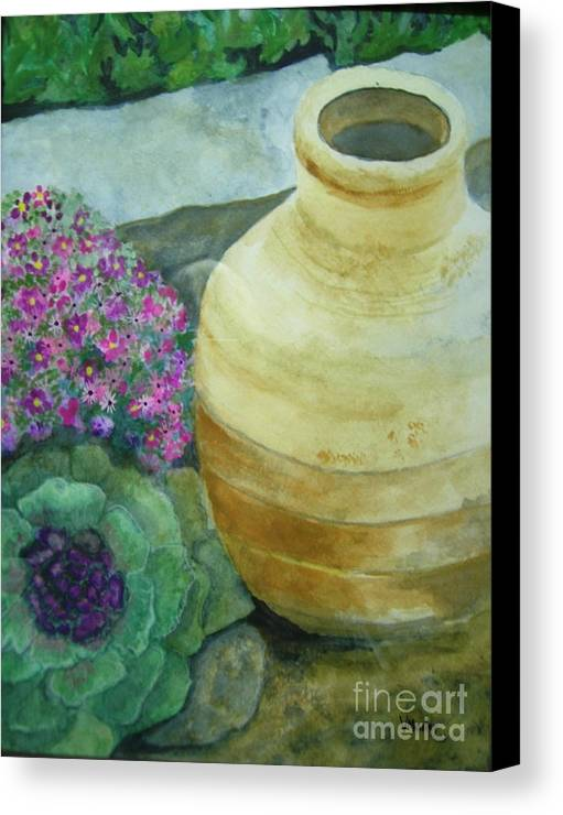 Landscape Canvas Print featuring the painting Garden Path by Vivian Mosley