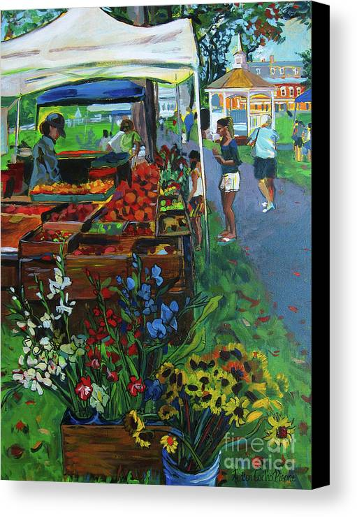 Grafton Canvas Print featuring the painting Grafton Farmer's Market by Allison Coelho Picone