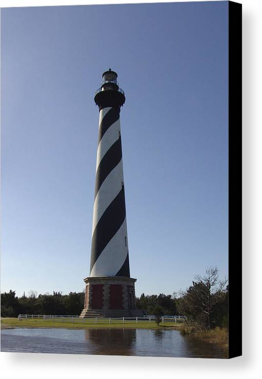 Hatteras Canvas Print featuring the photograph Hatteras Lighthouse by Tina B Hamilton