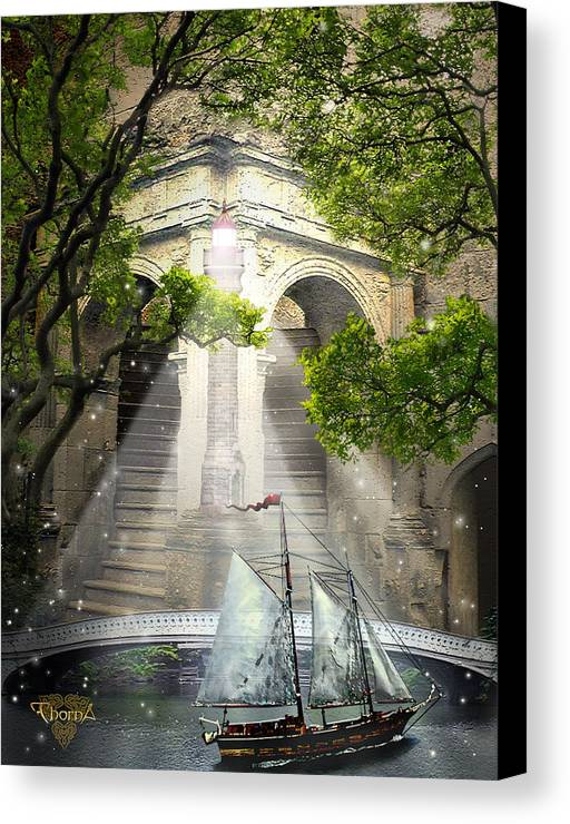 Digital Art Canvas Print featuring the digital art Havens by Greg Piszko