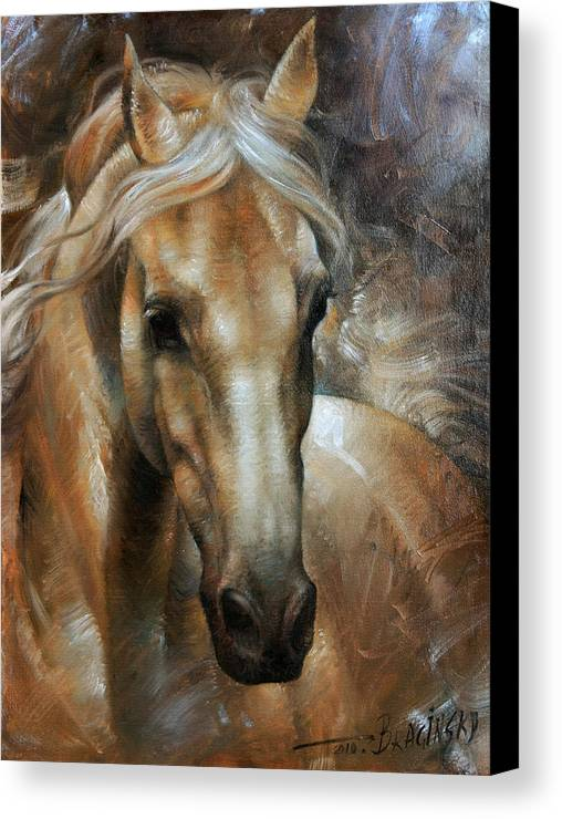Horse Canvas Print featuring the painting Head Horse 2 by Arthur Braginsky
