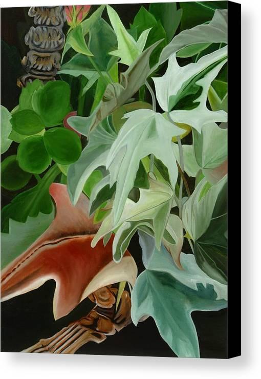 Floral Canvas Print featuring the painting Hide'n Seek IIi by Sunhee Kim Jung