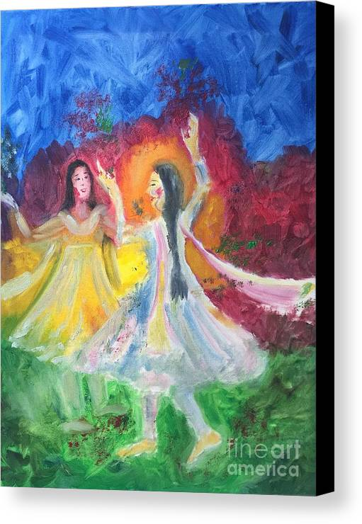 Holi Canvas Print featuring the painting Holi-festival Of Colors by Brindha Naveen