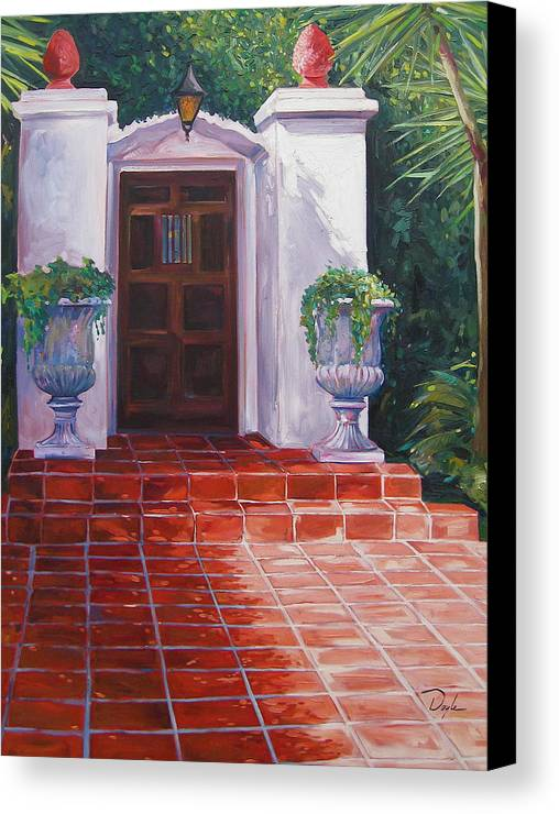 Doorway Canvas Print featuring the painting Howard by Karen Doyle