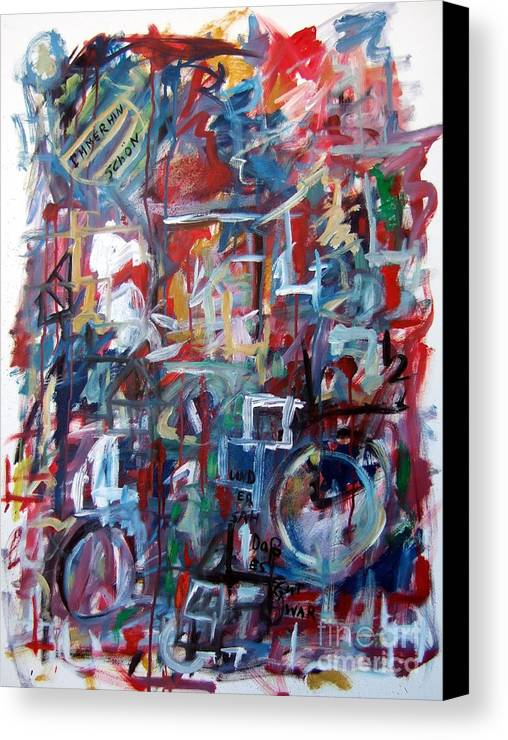 Abstract Canvas Print featuring the painting Immerhin Schoen by Michael Henderson