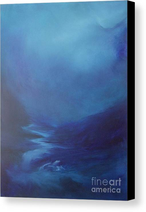 Glacier Canvas Print featuring the painting Infinite Spaces by Debbie Anderson
