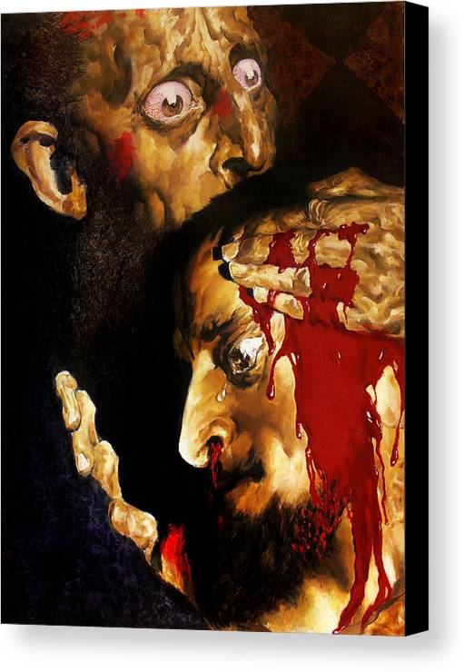 Man Canvas Print featuring the painting Ivan D by Valeriy Mavlo