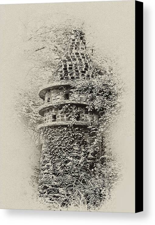 Philadelphia Canvas Print featuring the photograph Ivy Covered Castle In The Woods by Bill Cannon