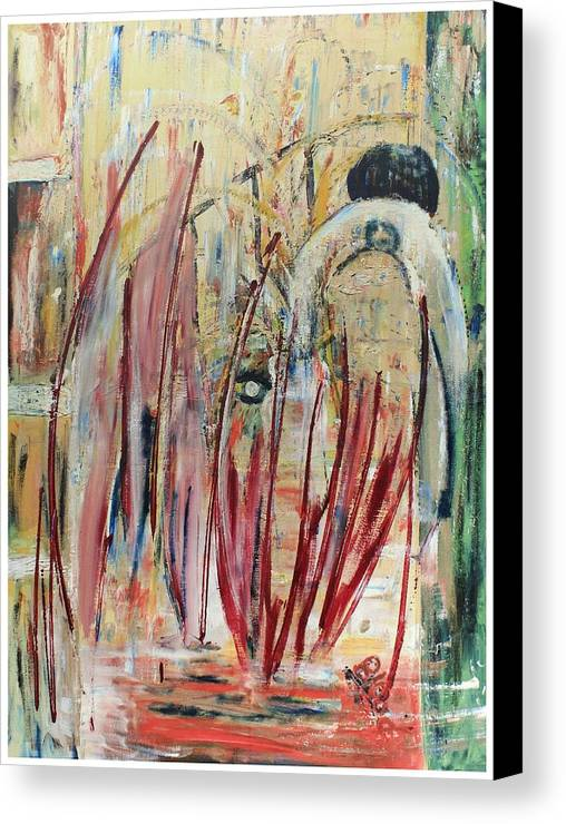 Figurative Canvas Print featuring the painting Japan Town by Peggy Blood