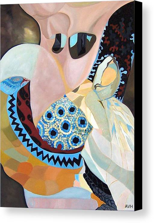 Figyrative Canvas Print featuring the painting Jurney by Antoaneta Melnikova- Hillman