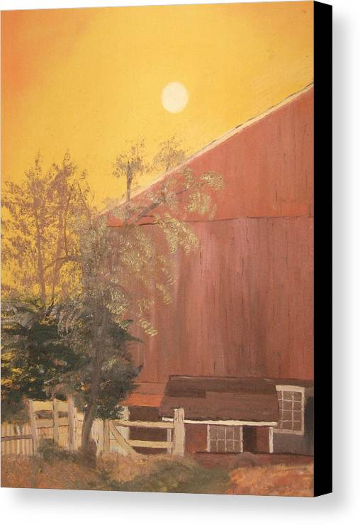 Landscape Canvas Print featuring the painting Just Another Farm by L A Raven