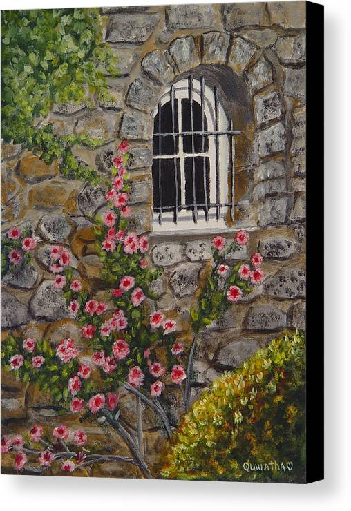 Window Canvas Print featuring the painting Les Arcs Sur Argens by Quwatha Valentine