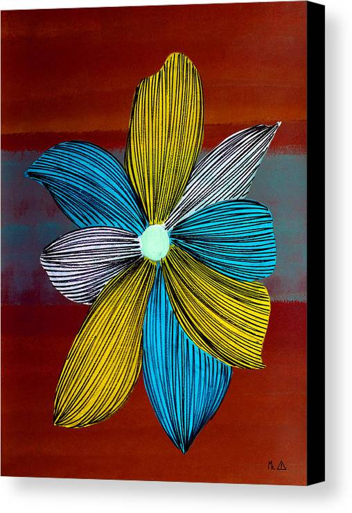 Flowers. Flower Canvas Print featuring the painting Lib - 146 by Artist Singh