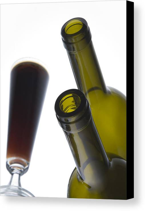 Bottles Canvas Print featuring the photograph Libation 3 by Patrick Ziegler