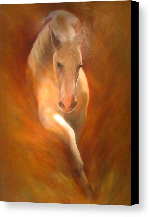 Horse Canvas Print featuring the painting Lipizzaner by Elizabeth Silk