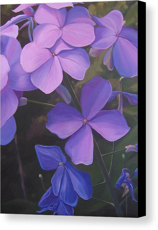 Closeup Of Colorado Wildflower Near Durango Canvas Print featuring the painting Lush Life by Hunter Jay