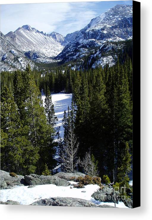 Moutains Canvas Print featuring the photograph Majestic by Lindsay Felty