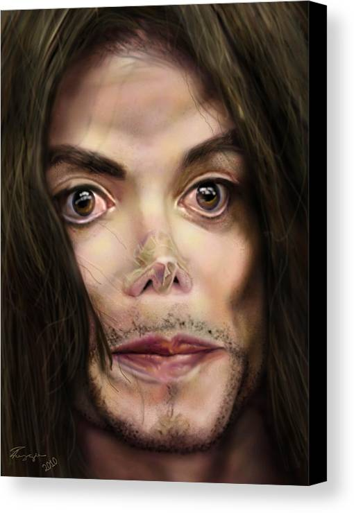 Michael Jackson Canvas Print featuring the painting Michaels Magnum Opus 1 by Reggie Duffie