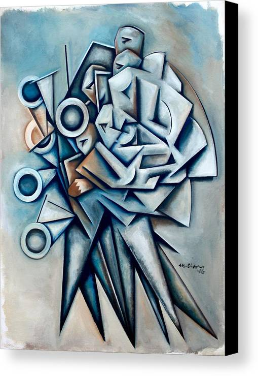 Jazz Canvas Print featuring the painting Momentum Independent by Martel Chapman