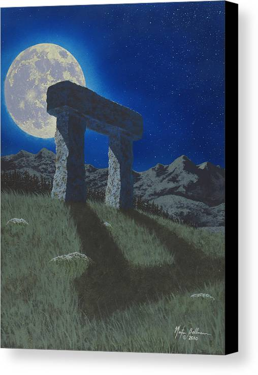 Moon Canvas Print featuring the painting Moon Gate by Martin Bellmann