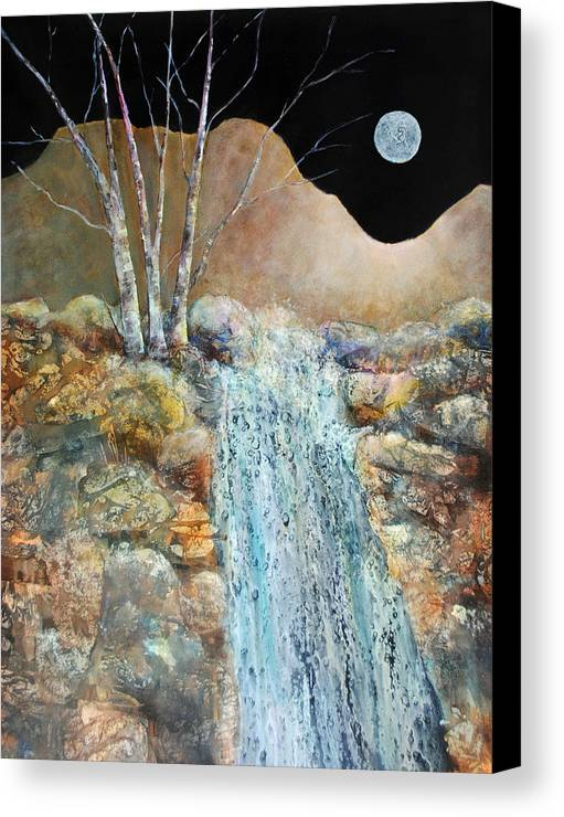 Landscape Canvas Print featuring the painting Moonglow by Kay Fuller
