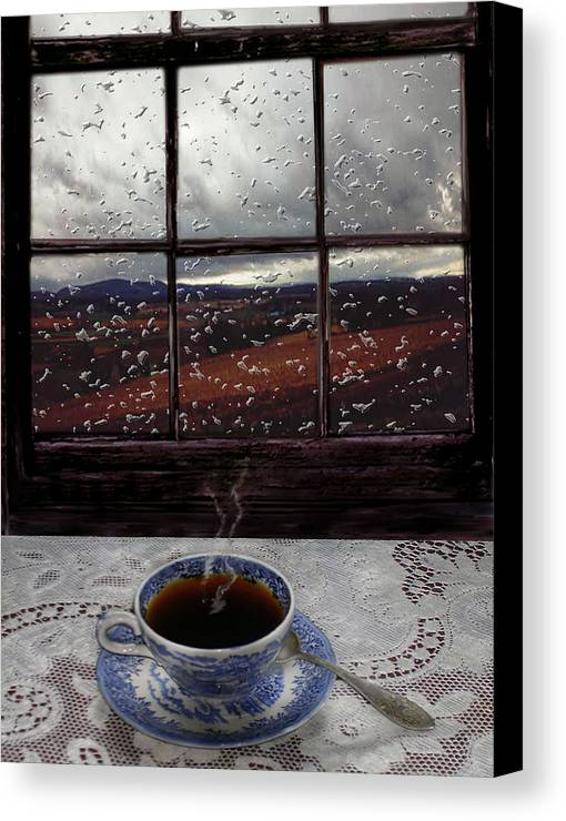 Landscape Canvas Print featuring the digital art Mornings Promise by Evelynn Eighmey