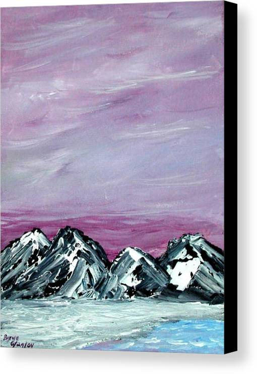 Landscape Canvas Print featuring the painting Nevada Sky by Margie Byrne