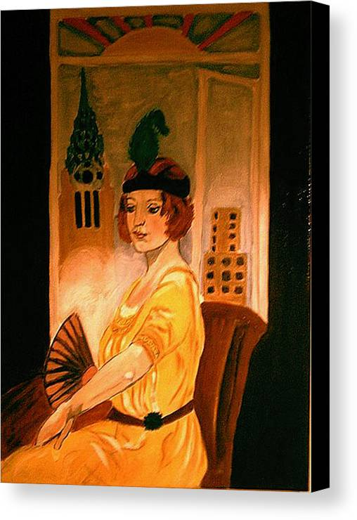 New York Canvas Print featuring the painting New York Fantasy by Rusty Woodward Gladdish
