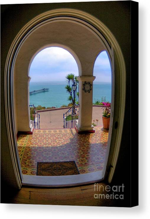 Blur Canvas Print featuring the photograph Ocean View by Kim Michaels