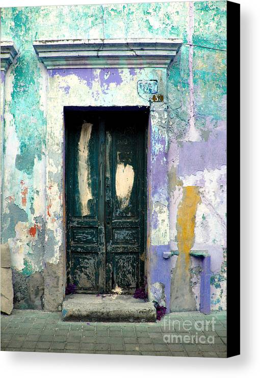 Darian Day Canvas Print featuring the photograph Old Door 4 By Darian Day by Mexicolors Art Photography