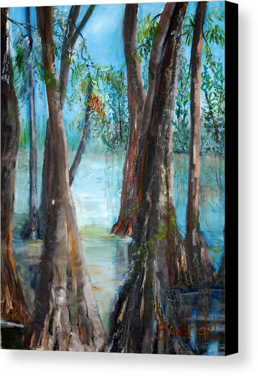Diane Boatright Canvas Print featuring the painting Old Men by Diane Fiore