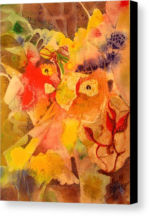 Semi-abstract Canvas Print featuring the painting Old North Wind by Bill Meeker
