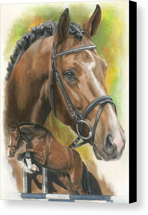 Horse Canvas Print featuring the mixed media Oldenberg by Barbara Keith