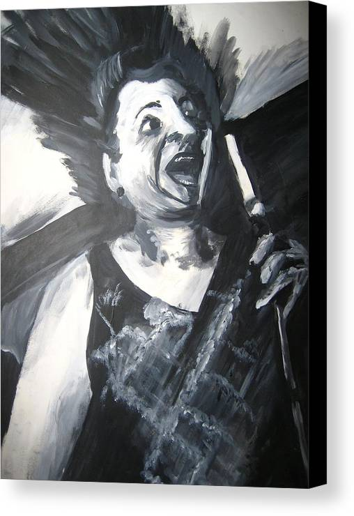Singer Canvas Print featuring the painting Opera by Jessica De la Torre