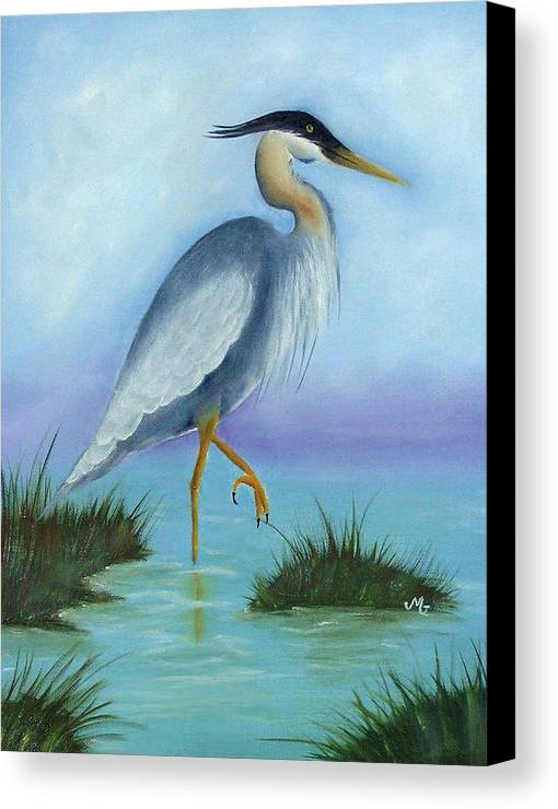 Fowl Canvas Print featuring the print Patience by Mary Gaines