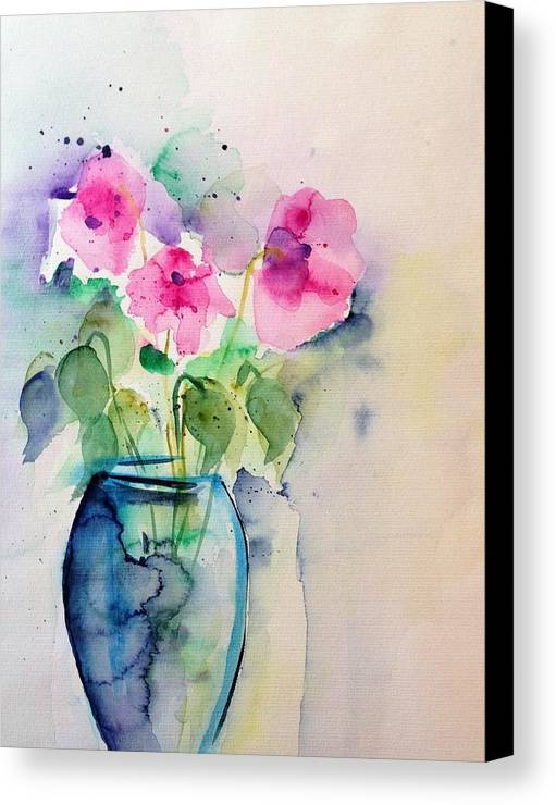 Pink flowers in the vase canvas print canvas art by britta zehm three canvas print featuring the painting pink flowers in the vase by britta zehm mightylinksfo
