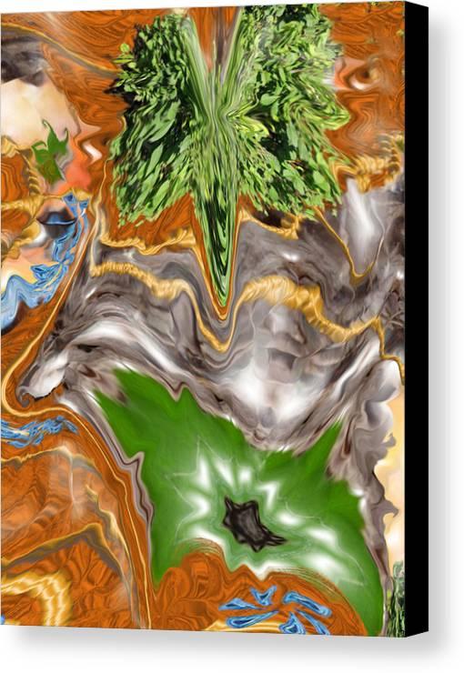 Plankton Canvas Print featuring the digital art Plankton Soup by Stephanie H Johnson