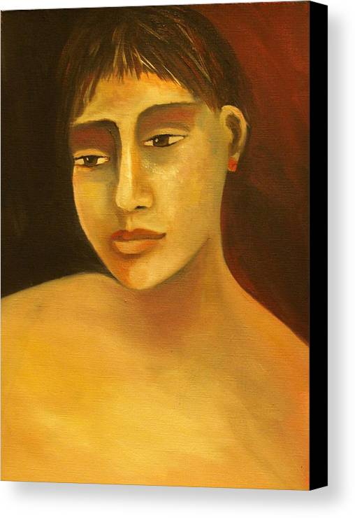 Portrait Canvas Print featuring the painting Portrait Number Eight by Niki Sands