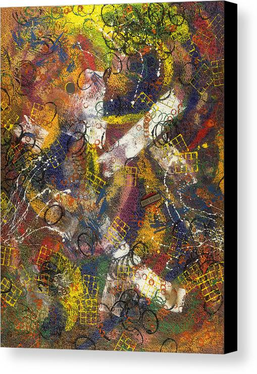 Abstract Canvas Print featuring the painting Pour La Ville by Dominique Boutaud