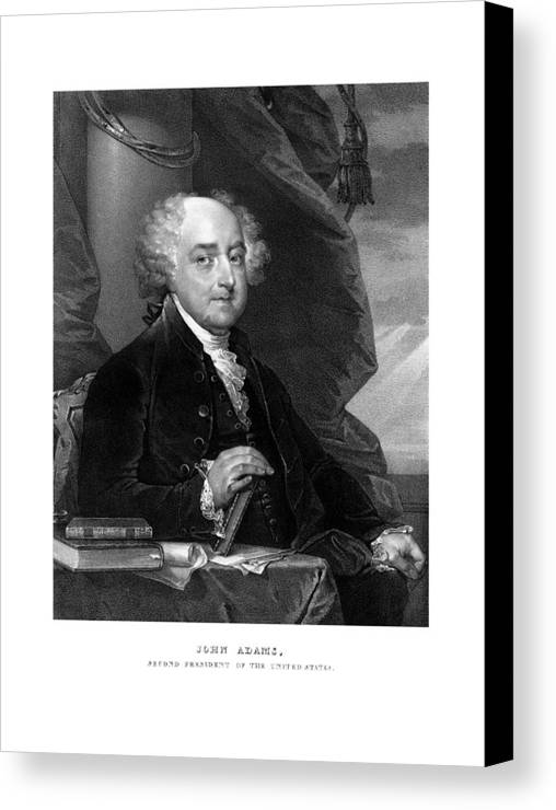 John Adams Canvas Print featuring the mixed media President John Adams by War Is Hell Store