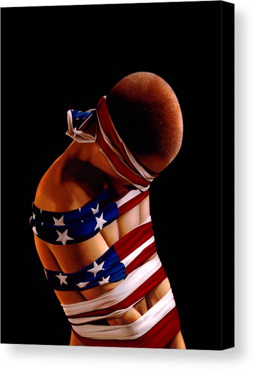 Philip Straub Canvas Print featuring the painting Prisoner Of War by Philip Straub