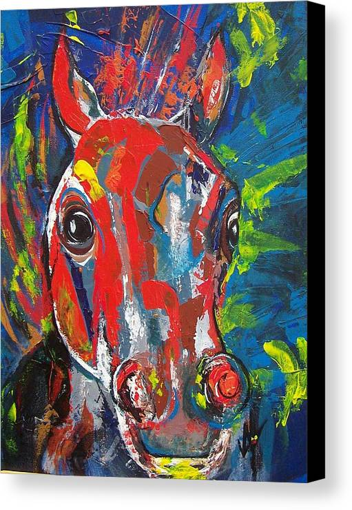 Horse Canvas Print featuring the painting Rebel by Valerie Wolf